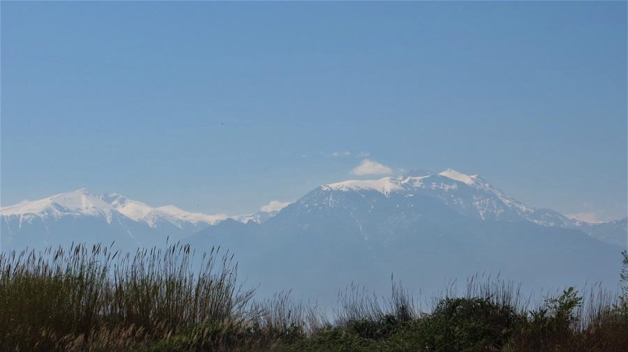 Nordgriechenland - Blick von Weitem auf den Berg Olymp