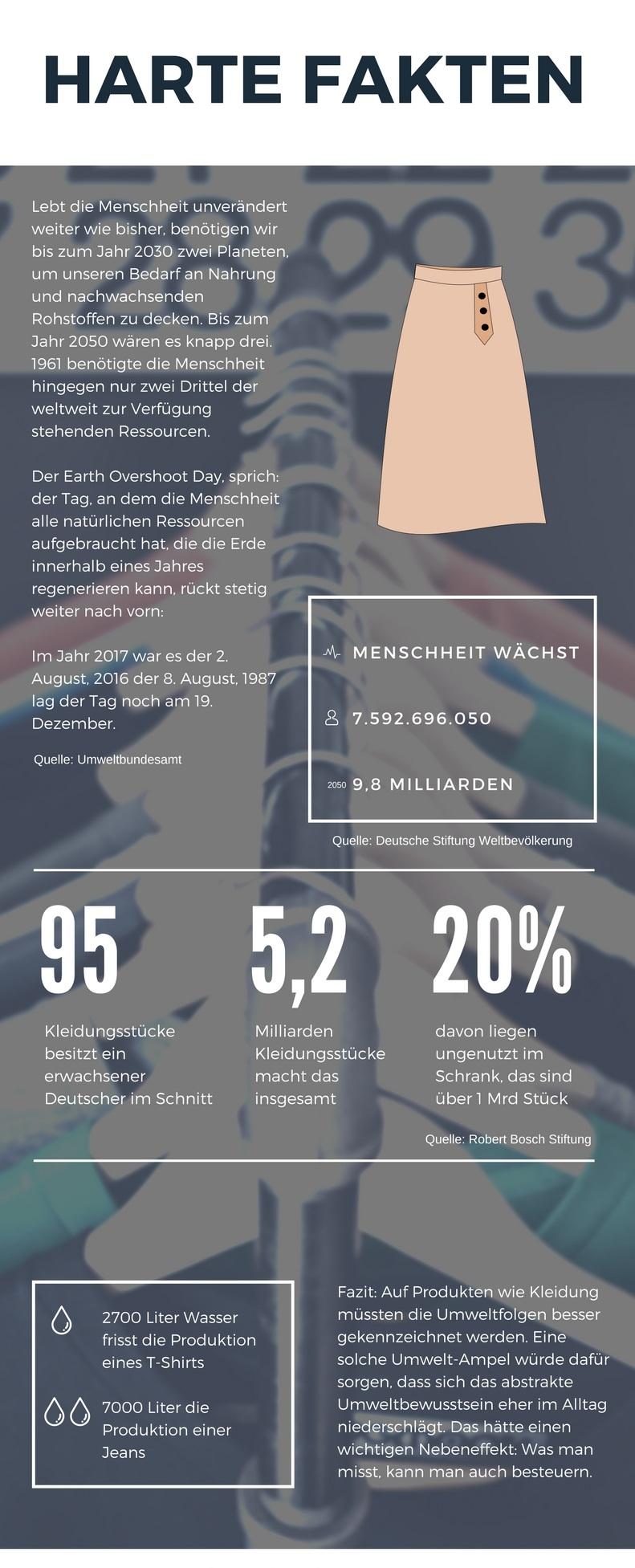 Minimalistischer Kleiderschrank - Infografik mit Fakten