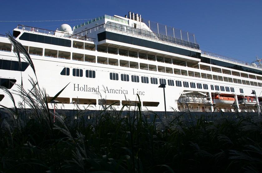 Holland America Line im Hafen von Québec City, Kanada