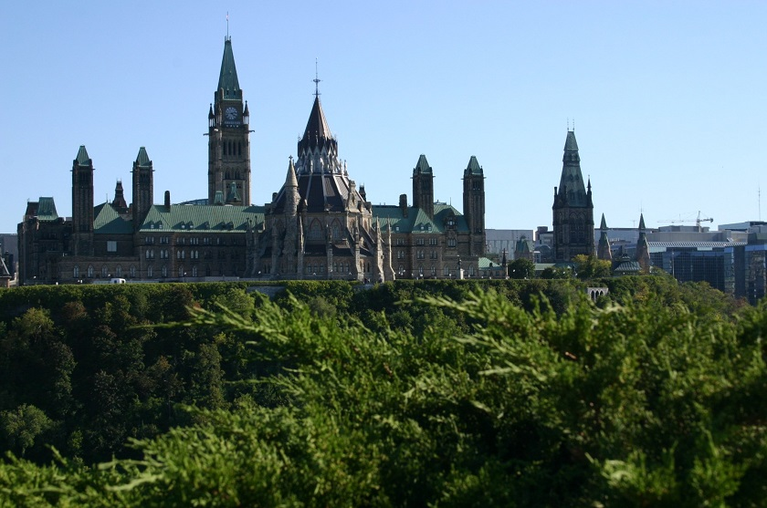 Blick auf Parliament Hill, Ottawa, Ontario, Kanada